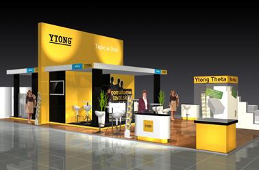 YTONG 2010 - Víťazná expozícia na veltrhu CONECO (120 m2 Xella)