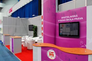 Veľtrh vzdelávania v NTC Bratislava 2009, 2010  - Paneuropska VS 24 m2
