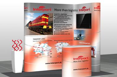 Interport mobilný rohový stánok